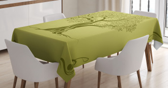 Olive Tree Pattern Tablecloth