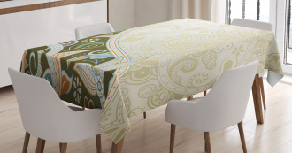 Abstract Flora Leaf Tablecloth