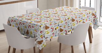 Orchestra Cartoon Tablecloth