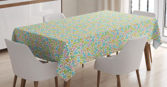 Numeral Composition Tablecloth