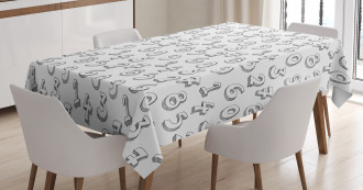 Educational Cartoon Tablecloth