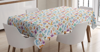 Astronomy Themed Motifs Tablecloth
