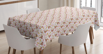 Nautical Animals Smiles Tablecloth