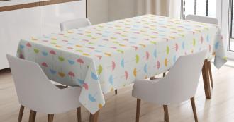 Pastel Tones Tiny Dots Tablecloth
