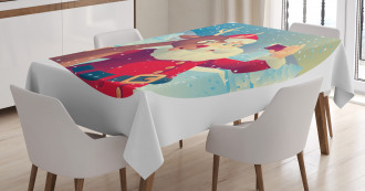 Cellphone Funny Selfie Tablecloth