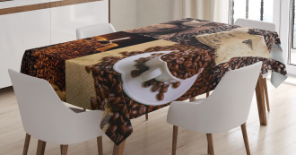 Rustic Collage of Grains Tablecloth