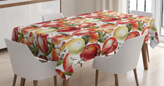 Watercolor Tasty Apples Tablecloth