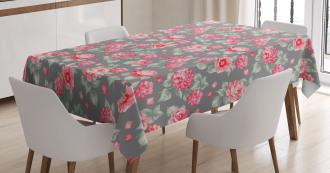 Romantic Bridal Bouquets Tablecloth