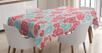Retro Rose Buds Tablecloth