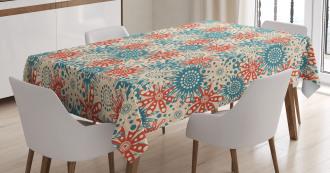 Hippie Floral Art Tablecloth