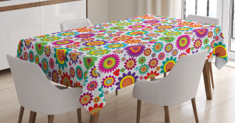 Colorful Camomiles Tablecloth