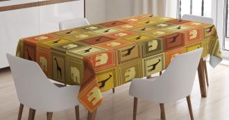 Savanna Animal Frames Tablecloth