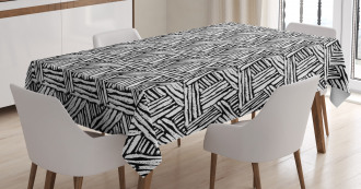 Classic Ink Art Tablecloth