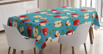 Red Delicious Healty Food Tablecloth