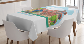 Cycling Man Culture Tablecloth