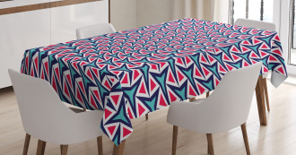Retro Hipster Abstract Tablecloth