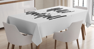 Hand Letters Tiny Dots Tablecloth
