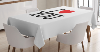 Vibrant Heart Pattern Tablecloth