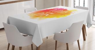 Optimistic Message Tablecloth