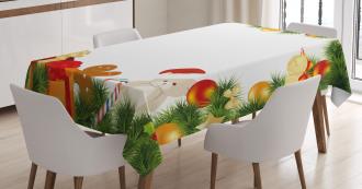 Garland Bear Tree Tablecloth