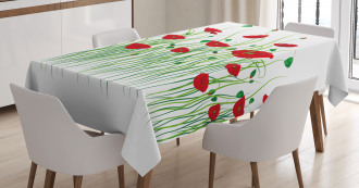 Flowers on a Rural Field Tablecloth