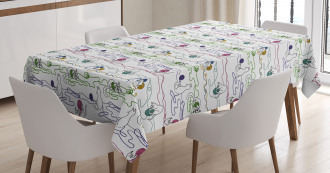 Cats with Yarn Balls Tablecloth