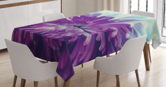 Blooming Floral Motifs Tablecloth