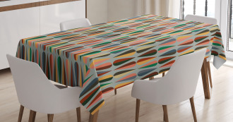 Two Color Droplets Tablecloth