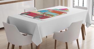 Ice Cream Cartoon Style Tablecloth