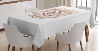 Floral Jar Art Tablecloth