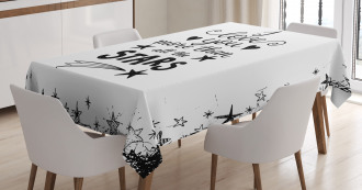 Stars for Loved One Tablecloth