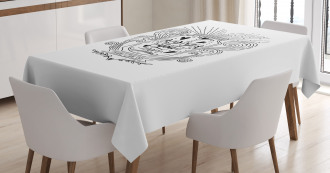 Doodle Floral Jar Tablecloth