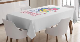 Ice Cream Doodle Tablecloth
