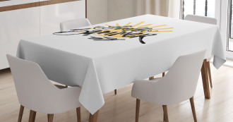 Brush Calligraphy Tablecloth