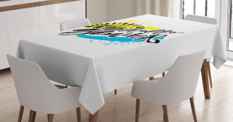 Grunge Brushstroke Tablecloth