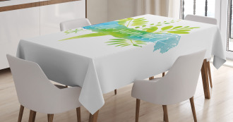 Foliage Watercolor Tablecloth