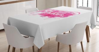 Vintage Pink Blob Tablecloth