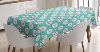 Cherry and Flowers Tablecloth