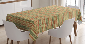 Retro Colorful Geometric Tablecloth