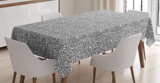 Hi-Tech Pattern Tablecloth