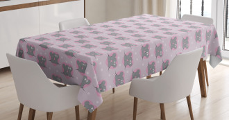 Mouse Hearts Tablecloth