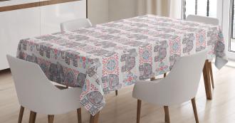Ethnic Pastel Tribal Tablecloth