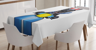 Bulldog on a Scooter Tablecloth