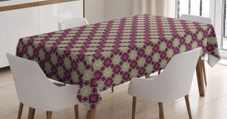 Hand Drawn Petals Dots Tablecloth