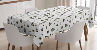 Abstract Curved Stripes Tablecloth