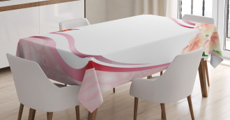 Abstract Floral Pink Tablecloth