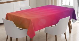 Ombre Circles Tablecloth