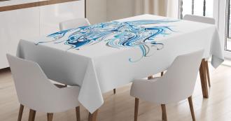 Abstract Betta Splenden Tablecloth