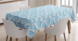 Arctic Char Sketch Art Tablecloth