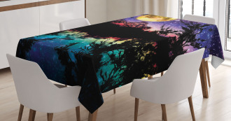 Night Sky Trees TableCloth